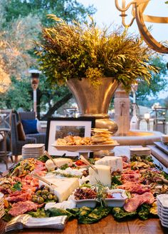 Partygoers delighted in an over-the-top antipasti station and custom wood-grilled pizzas.
