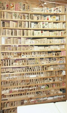 Wooden stamp storage  Oh if I could ever find something like this, I'd be in heaven!
