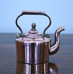 Antique English Miniature Copper Kettle