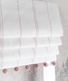 Fabric Blinds, Curtains With Blinds, Blinds For Windows, Pom Pom Curtains, Valances, Roman Curtains, Linen Curtains, Linen Fabric, Gypsy Curtains