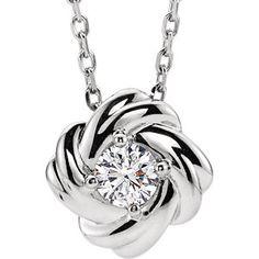 White Gold Diamond Knot Necklace Item #86655