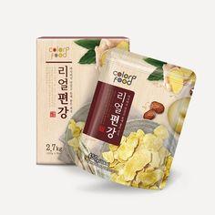 Tea Packaging, Food Packaging Design, Tablet Ui, Visual Communication Design, Snack Bags, Korean Food, Food Design, Branding, Snacks