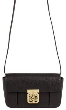 f2951a023a59 Chloé Elsie Mini Black Textured Calfskin Cross Body Bag 37% off retail