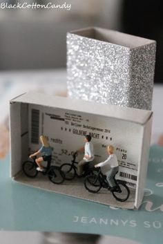 gift card or ticket in a matchbox by BlackCottonCandy