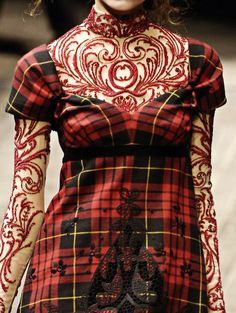alexander mcqueen tartan   Alexander McQueen. I don't usually like plaid, but with the lace it ...