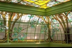 Jacques Gruber - French Glass painter - now THAT'S a sun room!!!!!