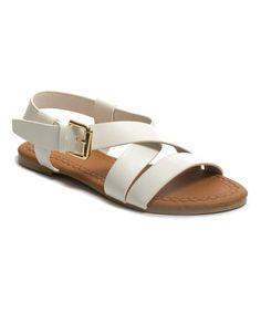 Look at this #zulilyfind! White Pola Sandal #zulilyfinds