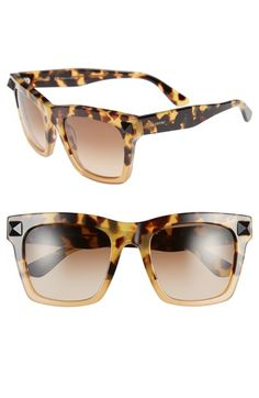 Valentino 'Rockstud' 54mm Sunglasses available at #Nordstrom