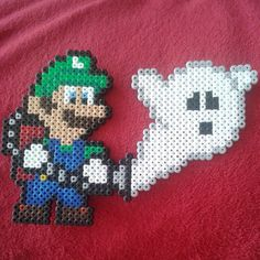 Luigi's Mansion - Mario hama beads by koenmann
