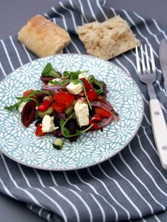 Mel's Greek Salad - healthy and delicious - # . Greek Salad, Healthy Salads, Cobb Salad, Ethnic Recipes, Food, Health, Seasons Of The Year, Meals