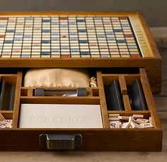 Restoration Hardware's Scrabble set. For the aspirational aristocrat wordsmith in each of us