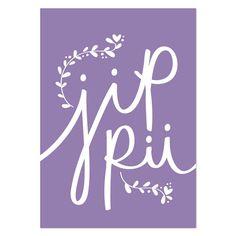 Jippii (Verso) violetti postikortti