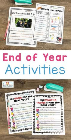 "End of Year Activities for 3rd, 4th, or 5th grade - Use this 38 page pack in your upper elementary classroom to celebrate the #EndOfYear. These printables are fun, engaging, and keep students motivated on those last days. You get autograph pages, favorite books list, ""My Favorite"" lists, My Year in ABCs, 20 countdown activity cards, now and then (beginning and end of year comparison), plus more! Click through to see it all! #ThirdGrade #FourthGrade #FifthGrade #EndOfYear End Of Year Activities, 5th Grade Classroom, Fifth Grade, Abcs, Upper Elementary, 5th Grades, Students, Printables, Teacher"