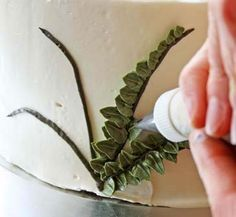 cakes+with+ferns | Springtime Flower Cake for Kathy (Le Creuset Giveaway) — Zoe Bakes