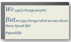 We can't change people but...