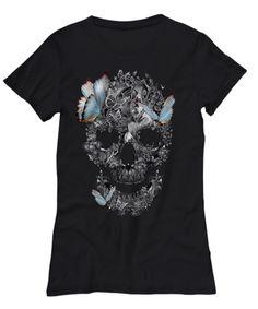 Butterfly Skull T-Shirt #butterflyskull #skullshirt