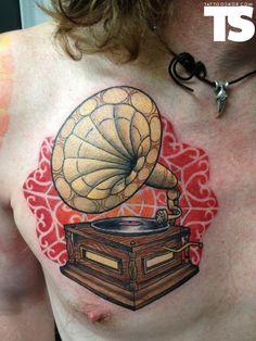 Tattoo by Tim Rix at Westside Tattoo in Brisbane, Queensland, AUS  ink, music