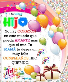 Happy Birthday In Spanish, Happy Birthday Video, Happy Birthday Wishes Cards, Birthday Cheers, Birthday Blessings, Happy Birthday Pictures, Mother Birthday Quotes, Happy New Year Greetings, I Love My Son