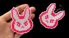 D.Va Bunny Earrings Overwatch Jewelry / Gamer by 8BitEarrings