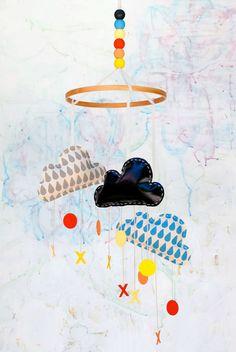DIY Chalkboard Cloud Mobile by Handmade Charlotte - Handmade Charlotte Stencil Sets Cloud Stencil, Stencil Diy, Diy Tableau Noir, Tuesday Inspiration, Chalkboard Decor, Cloud Mobile, Diy Bebe, Blog Deco, Nursery Design