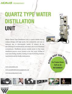 Quartz Type Water Distillation Unit Microbiology, Flask, The Unit, Type, Water, Quartz, Products, Gripe Water, Gadget