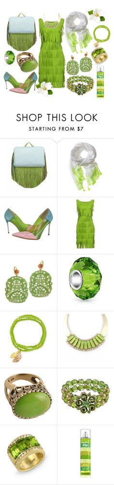 """Going Green"" by nightnurse0441 ❤ liked on Polyvore featuring The Volon, Banana Republic, STELLA McCARTNEY, La Petite Robe di Chiara Boni, Kenneth Jay Lane, Bling Jewelry, Elise M., Barse and 1928"