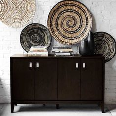 West Elm offers modern furniture and home decor featuring inspiring designs and colors. Create a stylish space with home accessories from West Elm. Dining Buffet, Console Table, African Home Decor, Contemporary Wall Decor, Duplex, Baskets On Wall, Decorative Bowls, Decorative Baskets, Woven Baskets