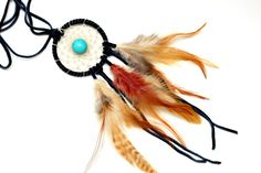 Native American Dreamcatcher Necklace  Black by HippieThings