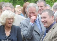 Sophisticated humour: Camilla, Duchess of Cornwall and Prince Charles are seen with Jools Holland laughing ~ if you click on the photo it will take you to the article.. its cute