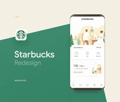 Starbucks - UI/UX Redesign - Expolore the best and the special ideas about App design Ios App Design, Mobile Ui Design, Application Ui Design, Interaktives Design, Android App Design, Iphone App Design, Logo Design, Design Layouts, Flat Design