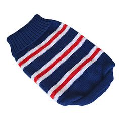Lovely Classic Stripes Pattern Sweater for Pets Dogs (Assorted Sizes) – USD $ 10.59