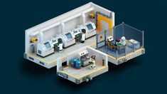 Game UI and Illustration on Behance Assembly Line, Game Ui, Lego Creations, Interactive Design, One Design, Character Illustration, Space Colony, Floor Plans, Behance