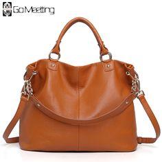 a644b09a65 Luxury Brand Women s Genuine Leather Handbags For Women bag Designer  Vintage Soft Cow Brown Messenger Shoulder Bags Female Tote