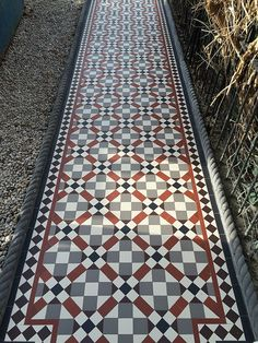Victorian floor tiles and contemporary geometric ceramic tiles. Specialists in the design and supply of mosaic tile schemes. Victorian Front Garden, Victorian Porch, Victorian Tiles, Hallway Flooring, Porch Flooring, Outdoor Flooring, Front Garden Entrance, Front Path, Terrace House Exterior