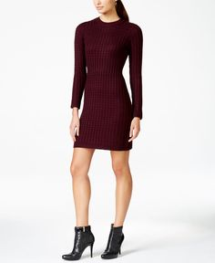 8def332851e Calvin Klein Crew-Neck Cable-Knit Sweater Dress Women - Dresses - Macy s