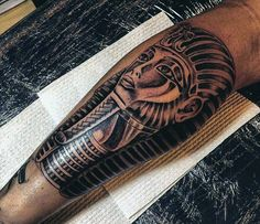 Egyptian Hieroglyphic Tattoos For Men
