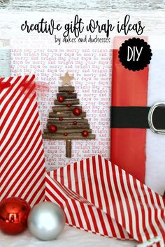 creative gift wrap ideas with hobbylobby craft items ad creativechristmas hobbylobbymade - Hobby Lobby Christmas Wrapping Paper