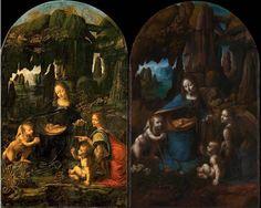 """Le due versioni della """"Vergine delle rocce"""" di Leonardo"""