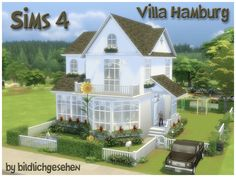 Sims 4 Updates: Akisima - Houses and Lots, Residential Lots : Villa HAMBURG (no cc) by Bildlichgesehen, Custom Content Download!