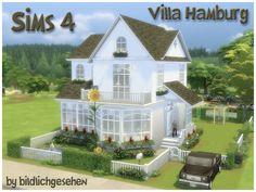Sims 4 Updates: Akisima - Houses and Lots, Residential Lots : Villa HAMBURG (no cc) by Bildlichgesehen, Custom Content Download!