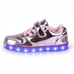 Kids' Pink Light Up Trainers With Shoelaces