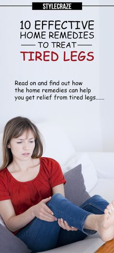 Do you experience tiredness in your legs after a long working day?