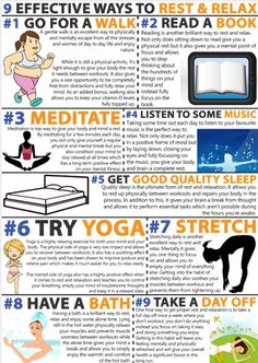 Vita sana e meno stress. Are you making time for rest and relaxation in your life? Say yes to less stress. Here are nine ways to make it part of your routine. Wellness Fitness, Fitness Tips, Health Fitness, Free Fitness, Fitness Facts, Healthy Tips, How To Stay Healthy, Healthy Facts, Healthy Weight