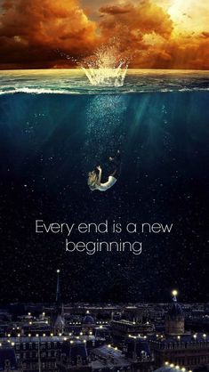 Every end has a New beginning. Tap to see New Beginning Quotes Wallpapers For Your iPhone This New Year! Fresh start New year wallpapers, lockscreen backgrounds, fondos, greetings, wishes. - @mobile9
