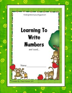Kindergarten Crayons: Writing Numbers book...can make as a class big book, laminate, and use a wipe off marker :0)