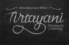 Tirtayani handmade lettering by Inksun Mildertype on @creativemarket