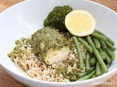 Neeta's Healthy Plate: Papillote of Salmon in Green Coconut Masala