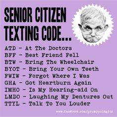 ;-) Love my Tech Savvy Seniors