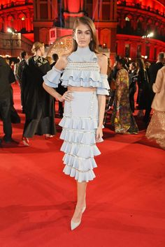 The Fashion Awards 2017 in partnership with Swarovski at Royal Albert Hall 12/4/2017 London England -  Kaia Gerber In Ralph and Russo