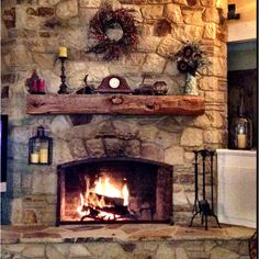 Love this fire place